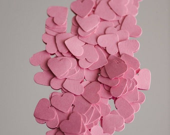 200 Pink Wedding Heart confetti, heart table scatters, wedding table decor, embellishments, Valentine, Baby shower, bridal shower decor