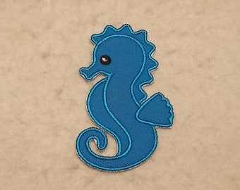 Seahorse - MADE to ORDER - Choose COLOR and Size - Tutu & Shirt Supplies - fabric Iron on Applique Patch z 8884
