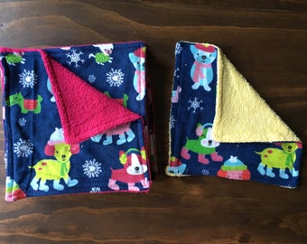 Wash Cloth - Reusable/Washable/Recycle Wipes, baby, winter, puppy