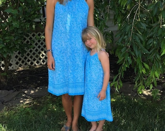 Mommy and Me dresses matching mother daughter halter dress baby girl match women sizes plus sizes woman 18 20 22 24 26