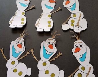 Set of 6 Olaf, Olaf Centerpiece, Frocen Centerpiece, Olaf Decor