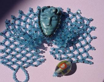 A Face As Cute As A Button---Vintage Button Beadwoven Bracelet