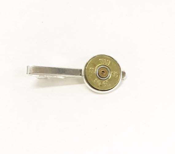 Shotgun Shell Tie Clip, 20 Gauge Tie Clip, Shooting Sports Jewelry, Shotgun Shell Jewelry, Shotgun Shell Gifts, Tie Clip Gift For Him
