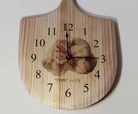 Personalized Wall Clock Laser Engraved Photo Clock Gift For