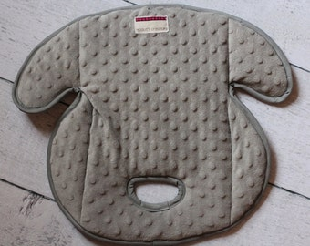 Carseat Protector Pad, Waterproof Carseat or Stroller Pad, COMPLIMENTARY SHIPPING, Minky Grey