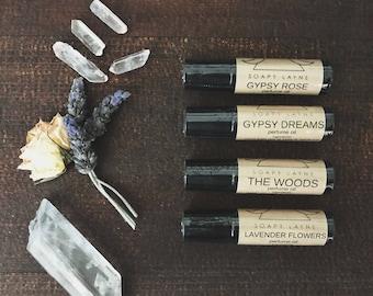 PERFUME OIL, lavender flowers- roll on bottle, vegan