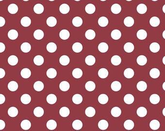 Riley Blake Designs, Medium Dots in Burgundy (C360 55)