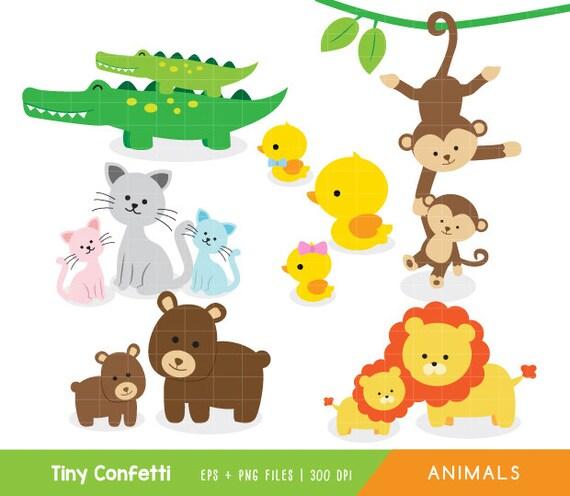 baby animals clipart safari clipart safari animals clip art baby rh etsystudio com Doctor Clip Art Girl Monkey Clip Art