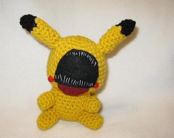 Chibi Glitch Pikachu amigurumi plush