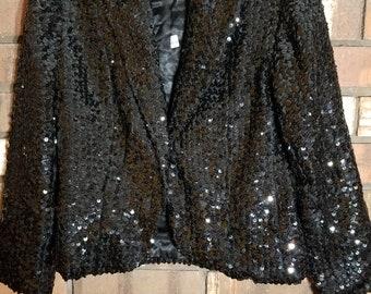 Sequin black jacket