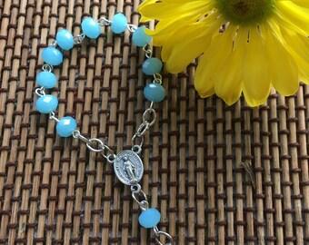 Marian Blue Single Decade Rosary