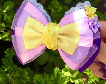 Punzie Inspired Hair Bow