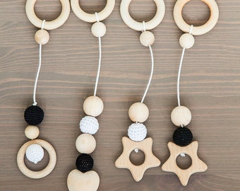 Handmade hangers - toys for baby gym