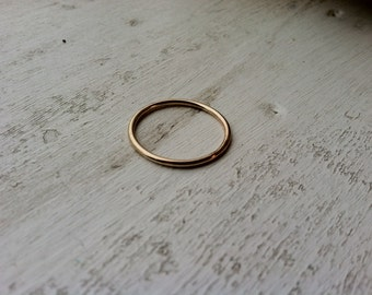 16g Thick Smooth Finished 14k Yellow Gold Fill Stacking Ring - made custom to order - Ready to Ship