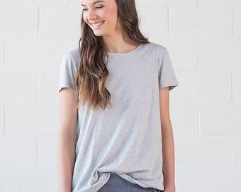 Organic Cotton Grey Tshirt - Geranium Tee