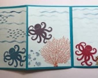 3 Page Octopus Greeting Card