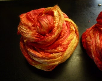 Sunset Hand Dyed Mulberry Silk Top 4 Ounces