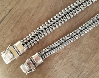 Silver chain bracelet, set bracelet, silver bracelet, friendship bracelet, sterling silver bracelet, bracelet silver, partner bracelet