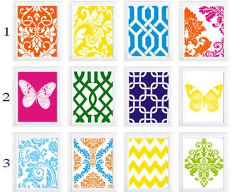 Modern  Patterns wall art for home Decor Set of  any (6)