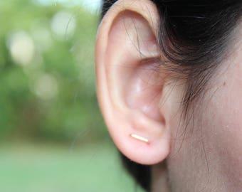 Double piercing earrings, double post earrings, two hole earrings, double stud earrings, double piercing earring set, connected earrings