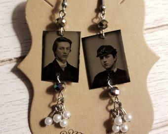Tintype Photo  Earrings No.7