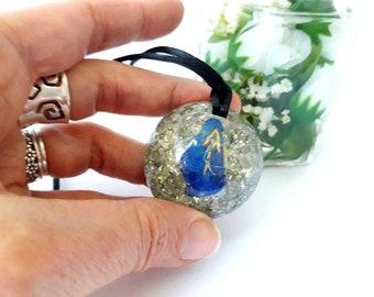 Necklace Orgone Rune  Teiwaz Protection  Stones Celtic Fantasy Necklace Rune Symbol Back To School Spiritual Gift , Amulet Crystal Healing