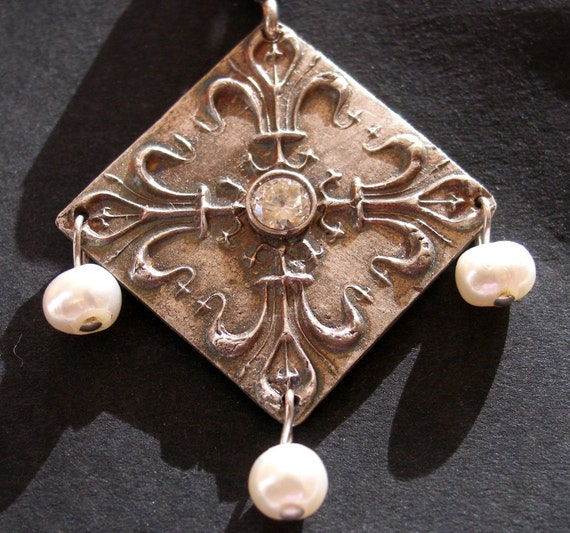 Elizabethan Pearls - Fine Silver and Pearl Pendant