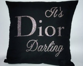 Accent Pillow - Pillow Cover - Dior Inspired Pillow - College Dorm Decor - Wedding Gifts - Bridesmaids Gifts - Dorm Decor - Hostess Gift