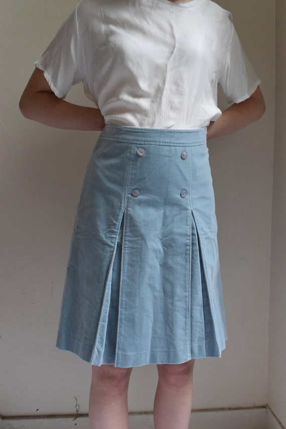 Sky Blue Cotton Skirt