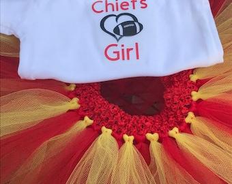 Chiefs Girl Bodysuit and Tutu