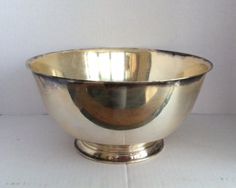 """Vintage """"Paul Revere"""" Reproduction 8"""" Footed Bowl by Oneida"""