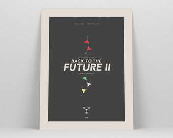 Back to the Future 2 ~ Minimalist Poster, Gifts for Him, Fathers Day Gift, Art Print, Wall Art, Wall Decor