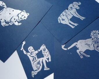 "8""X10"" Star Custom Greek Illustration Constellation Handstamped & Embossed - Ready for framing"
