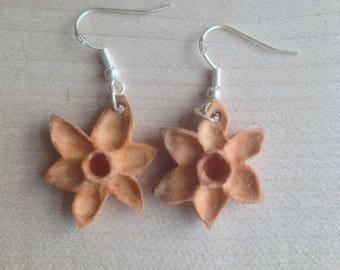 Wooden Daffodil Earrings