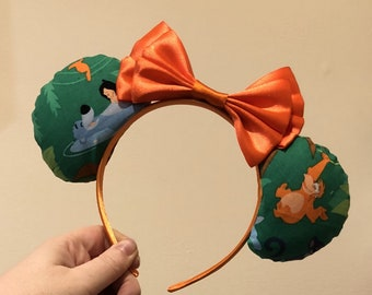 Jungle Book inspired Mickey/Minnie Disney ears featuring Mowgli, Baloo, Bagheera, King Louie