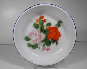 Hand-painted Enamel Pie Pan or Serving Bowl  (505)