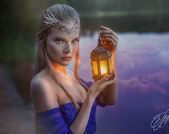 Wedding tiara - bridal diadem - Elven crown - Jewelry Diadem – fantasy circlet  fairy Tiara  bridal headband - fantasy fairy Tiara - Morgana