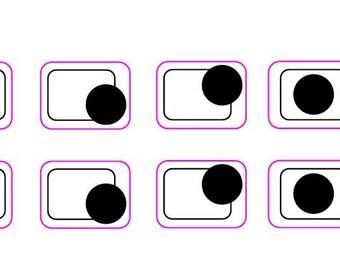 4-5 ring cooker top markings decals