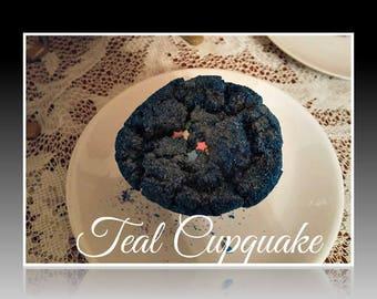Cake Batter Teal Blue CupQuake Bubble Bath BomB Fizzer