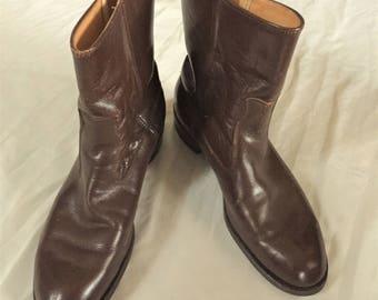 Vintage 60s Knapp Brown Beatle Boots 9 1/2C