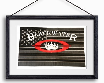 Blackwater USA Banner Academi Xe Private Military American