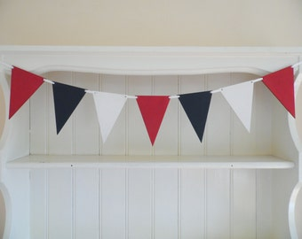 Nautical Wooden Bunting. Hand Painted, Bedroom, Nursery, Bathroom, Home Decor, Cottage Chic, Nautical, Seaside, Beach Hut Chic, Shabby Chic,
