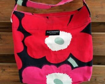Marimekko Unikko shoulder bag. Finnish / Scandinavian design.