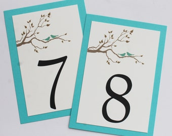 Love Birds Table Numbers