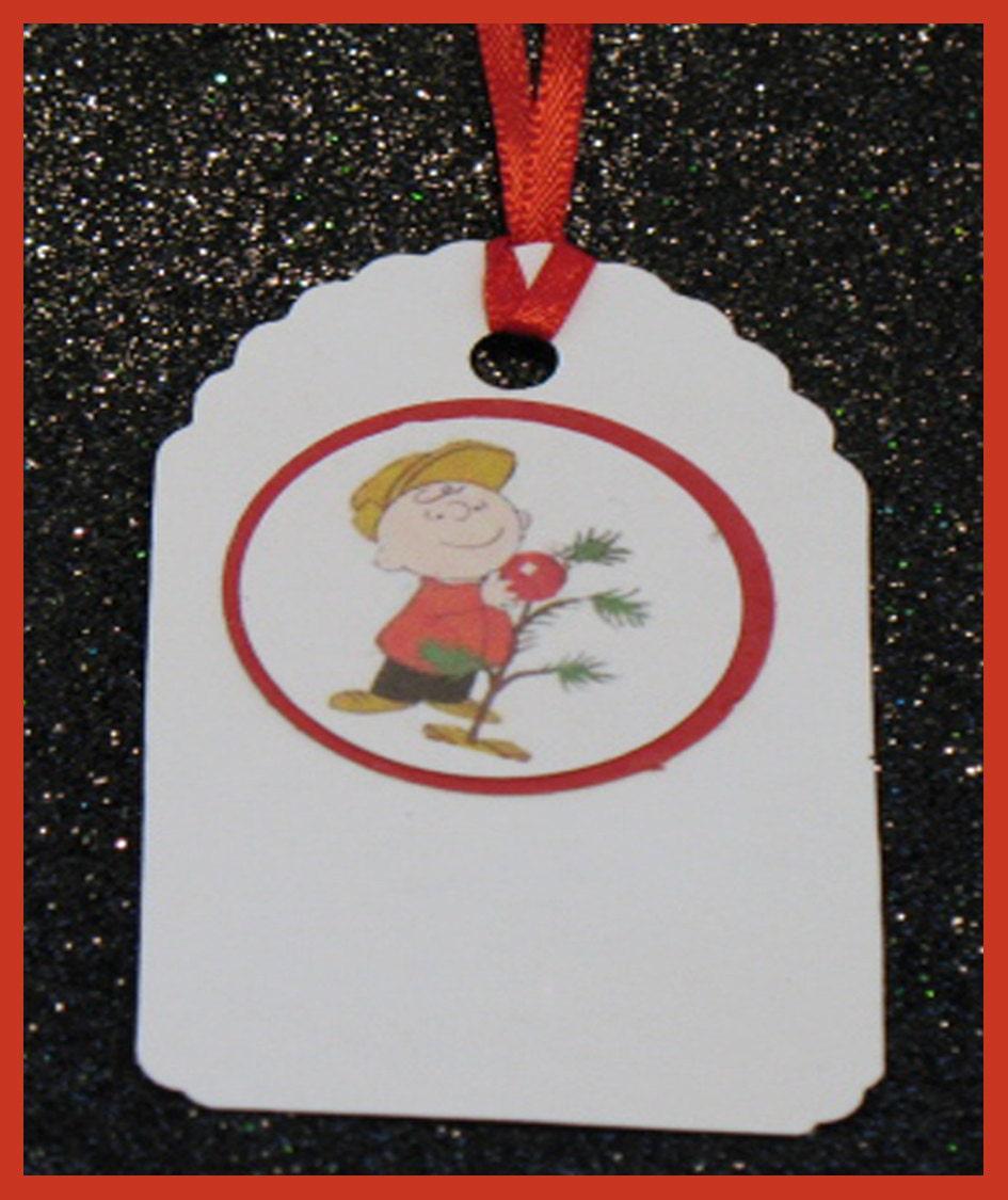 Charlie brown christmas gift tags