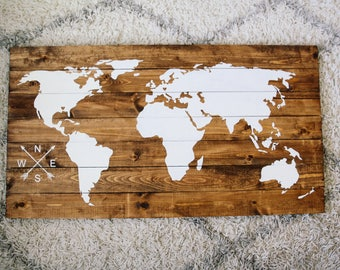 World map pallet etsy gumiabroncs Image collections