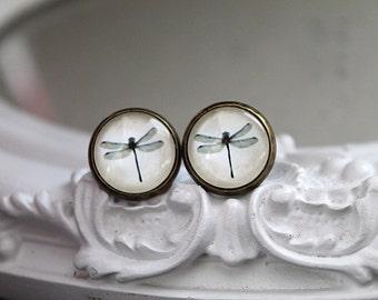 Pretty dragonfly  clip earrings sweet lolita feminine