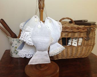Made from old linen Lavender fish