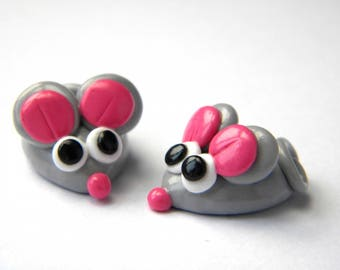 Great mouse button made by hand