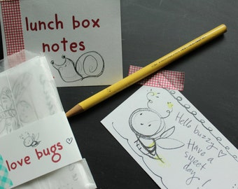 Love Bugs: Lunch box notes to color,